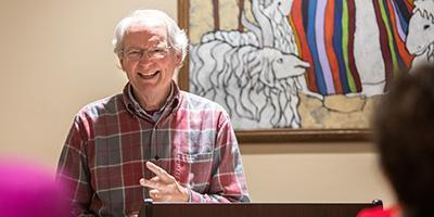 Paul McMurray teaches adult education class at Bryn Mawr Presbyterian Church